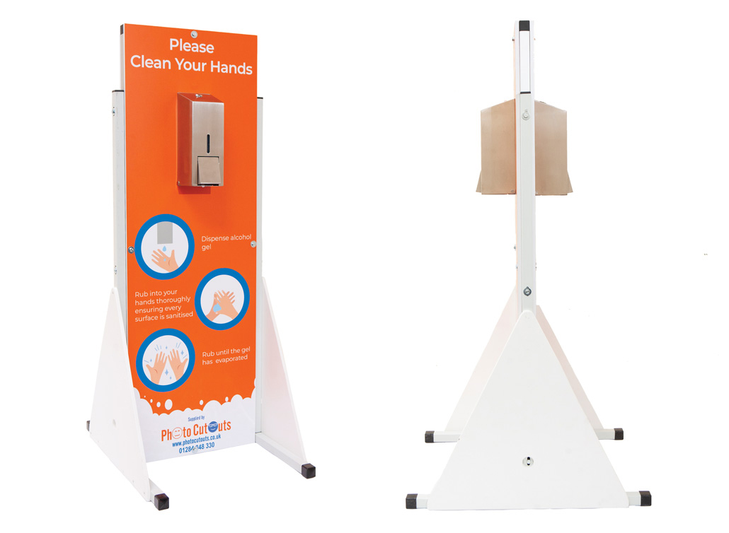 Double Sided sanitiser stations