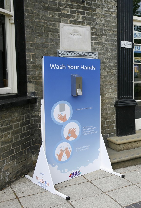Hire Hand Sanitiser boards