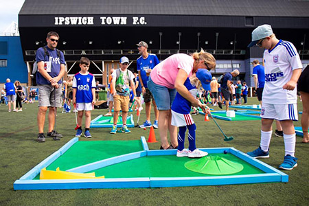 Ipswich Town FC Mini Golf Hire - Hire our equipment for parties and events